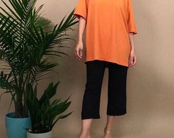 Silk crop kick pants S