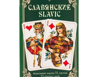 Russian playing cards. Slavic series 55