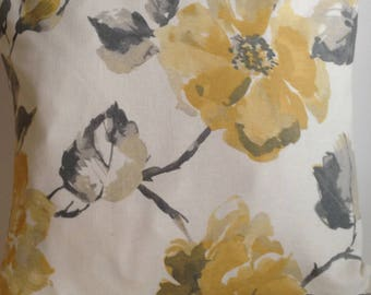 "20"" Square muted yellows/Grey pillow"