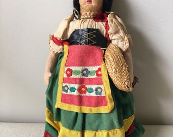 Very old Spanish- Mexican doll