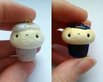 Polymer clay kawaii Galaxy cupcakes