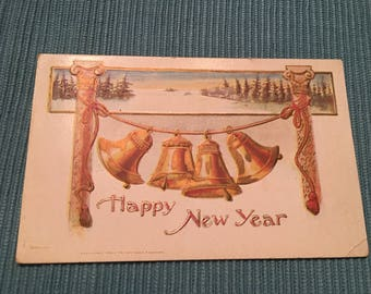 Antique New Years postcard from Rose Company