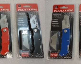 Free Shipping !!  6 Groomsmen Gifts , Locking Blade Utility Knives With Extra Blades,Colors Will Vary