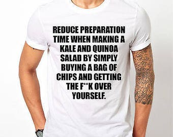 Mens Funny Long Quote - White T-shirt