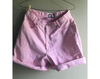 Vintage Pink high waist shorts