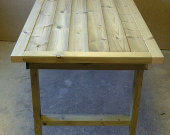 Large Wooden Garden Patio Table