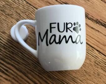 Great gift. Animal lover. Fur mama. Cats. Dogs. Coffee mug. Pawn prints.