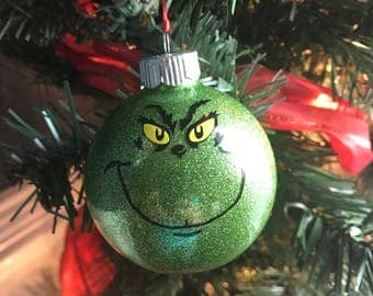 Grinch Ornament / Christmas Ornament / Grinch Christmas Ornament