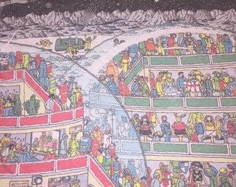 Vintage 90's where's Waldo galaxy t Shirt