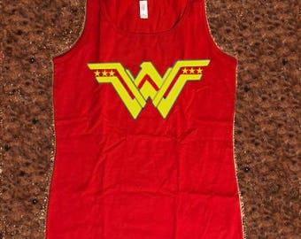 Wonder Woman Tank Top, Superhero Inspired Tank