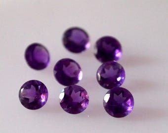 3 mm Natural round amethyst faceted AAA quality-high quality gemstones