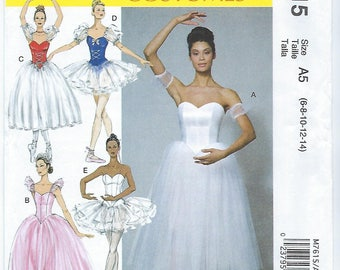 McCalls 7615 - MISSES Ballet Costumes