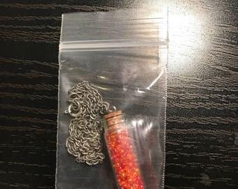 Bottled Necklace || red ||