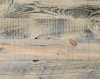 """5"""" Reclaimed Wood Planks from Reclaimed Snow Fence Wood - Wheatland Finish"""