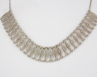 Vintage necklace, filigree crafted in silver