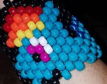 Rainbow Pony Bead Bracelet