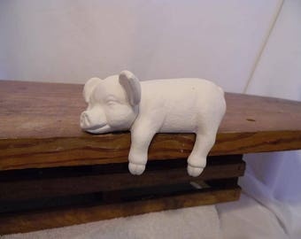 Ceramic Bisque Ready to Paint Shelf Pig