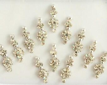 12 Silver Small Bindis,Wedding Long Bindis,Stone Silver Bindis,India Bindis,Bollywood Bindis,Self Adhesive Stickers,Face Makeup Tattoos