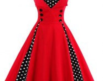 stunning ladies 1950s vintage style dresses sizes 8 - 18 ladies dress summer swing style