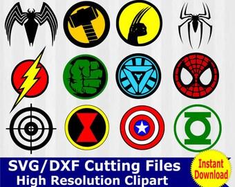 Superhero SVG, Superhero clipart, Superhero logo SVG, Superhero logo clipart, super hero svg, cameo files, svg files for cricut, dxf, vector