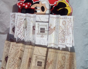 Marauders map Replica Brown or White, MAGIC wizarding party, not affiliated with TM harry potter marauders map mini map