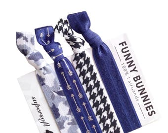 SOMETHING BLUE - 4 bracelets / hair ties - funnybunnies supersoft