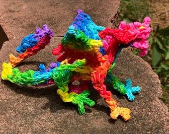 Multi-colored Dragon-Rainbow Loom