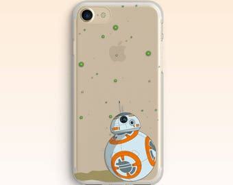 Star Wars iPhone 7 Case iPhone 8 BB 8 Case iPhone 6 Cover Watercolour iPhone 6s Plus Clear BB8 Case for Samsung S8 case for Galaxy S7 053