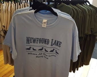 Newfound Lake Where All The Loons Hand Out T-Shirt