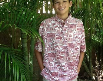 Boys Aloha Shirt, Aloha Wear, Hawaiian Shirts, Kids Aloha Wear, Aloha Shirts, Vintage Aloha Shirts, Mens Small
