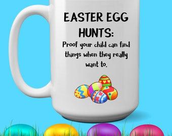 Easter Egg Hunt - funny coffee mug