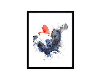 Crazy Dancing- Art Prints - Watercolor Abstract Paintings - Dance