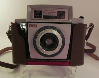Vintage Kodak Autosnap Camera in Leather Case