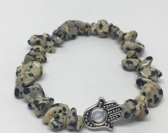 Custom Dalmatian Jasper Healing Gemstone Bracelet