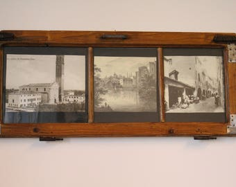 Wood and glass picture frame