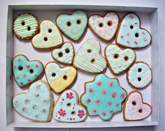 set of decorated cookies, cookies gift