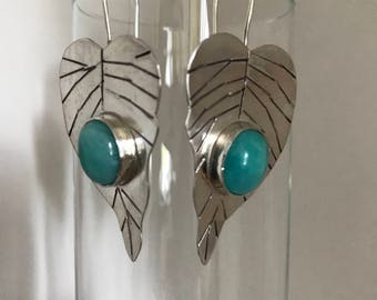 Leaf Amazonite Earrings