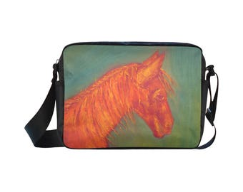 Cross body Bag, Messenger Bag, Shoulder Bag, Horse Art