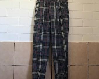Tartan highwaist trousers