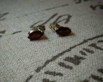 Marquis Garnet Earrings