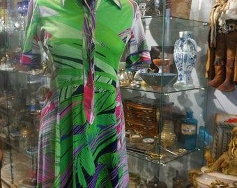 Dress printed VINTAGE LEONARD T36/38