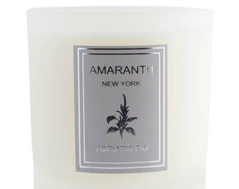 Adriatic Fig soy candle, soy candles handmade, scented soy candles, pure soy candles, made in New York