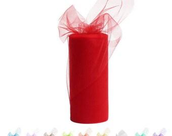 Colorful 6in 25 Yard Of Tulle Tutu Roll Tissue Rolls DIY Dress wedding decoration tissue