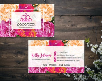 PERSONALIZED Paparazzi Business Card, Custom Paparazzi Accessories Business Card, Fast Free Personalization, Printable Business Card PZ14