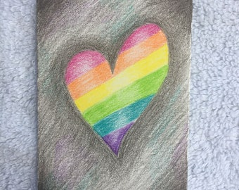Original Art Card - Rainbow Heart
