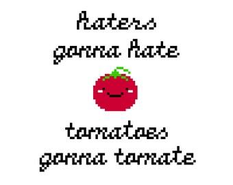 Punny Tomato Cross Stitch