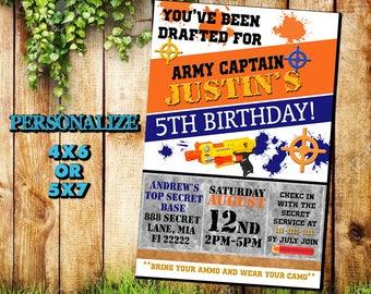 Nerf Invitation,Nerf Birthday Invitation,Nerf Birthday Party,Nerf Birthday Invite,Nerf Birthday Card,Nerf Printable,Nerf Invites,SL