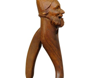 handcarved wood dwarf nutcracker 1900