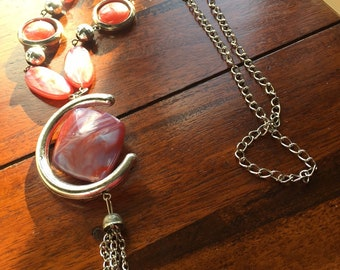 Rose coloured necklace