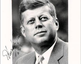 John F Kennedy,Jacqueline Kennedy signed autograph print